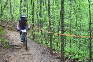 Kat Volzer takes the trail.  Photo courtesy of Stephanie Aylworth.