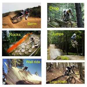 DH trail features